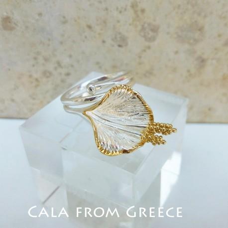 Görög ezüst kála gyűrű