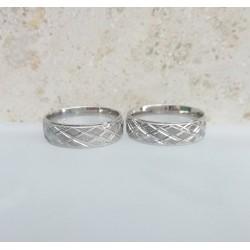 Ezüst vésett szélesebb karikagyűrűk