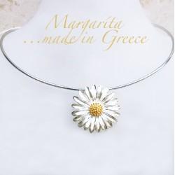 Görög ezüst margaréta nyaklánc
