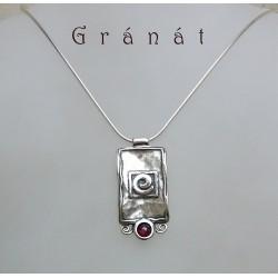 Izraeli ezüst és gránát nyaklánc