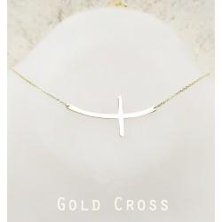 Arany kereszt nyaklánc