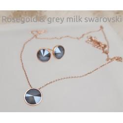 Rozéarany és grey milk swarovski kollekció