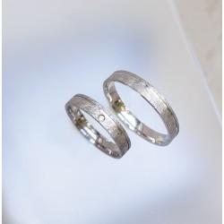 Ezüst vékony jeges csiszolású karikagyűrűk