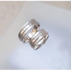 Ezüst hullám karikagyűrű pár