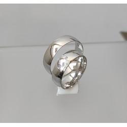 Ezüst karikagyűrű pár