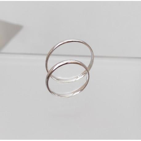 Ezüst vékony karikagyűrű pár