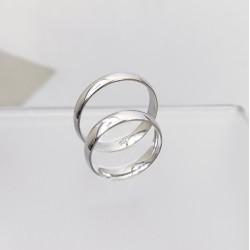 Ezüst klasszikus karikagyűrű pár