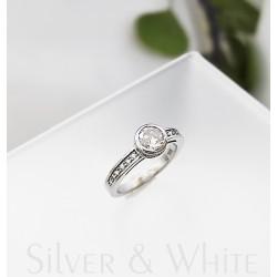 Ezüst és cirkónia gyűrű