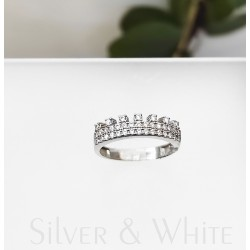 Ezüst korona gyűrű