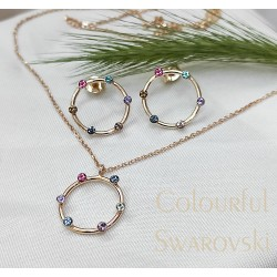 Színes swarovski és rozé kör kollekció
