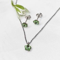 Zöld virág swarovski kristály kollekció