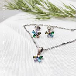 Színes kis virág és ezüst kollekció
