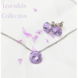 Levendula swarovski és ezüst kollekció