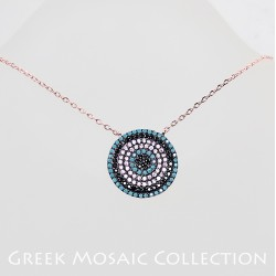 Görög színes mozaik nyaklánc