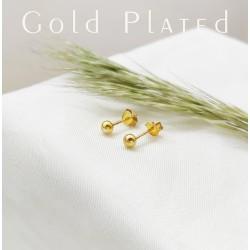 Apró arany golyó fülbevaló