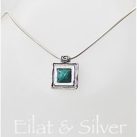Eilati kő és ezüst nyaklánc