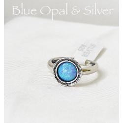 Izraeli kék nemesopál gyűrű