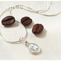 Ezüst kávé nyaklánc