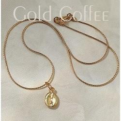 Arany kávé nyaklánc