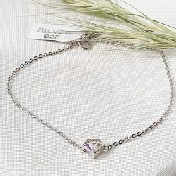 Ezüst gyémánt karkötő