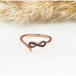 Rozéarany infinity Fatima gyűrű