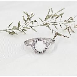 Fehér opál Lorett gyűrű
