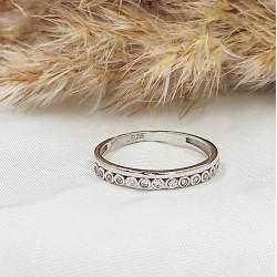 Ezüst Fruzsi gyűrű 58